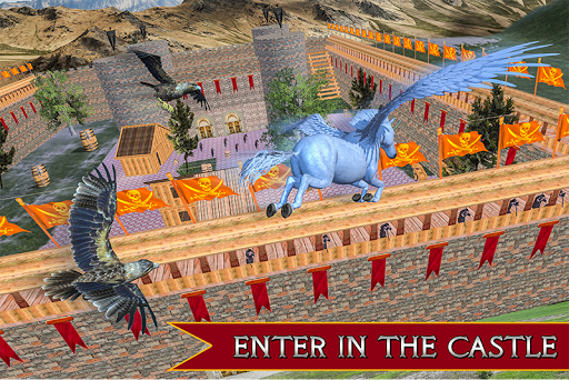 Flying Unicorn Horse Family Jungle Survival android2mod screenshots 1