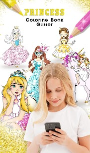Princess Coloring Book Glitter For Pc – [windows 10/8/7 And Mac] – Free Download In 2020 1
