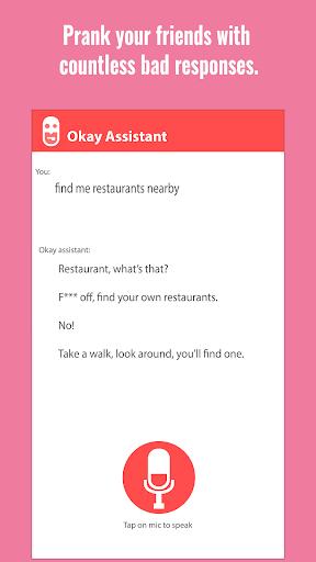 Okay Fake Voice Assistant (Prank) screenshots 1