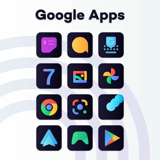 Download APK: Gradient Dark Icon Pack v1.0.1 [Patched]