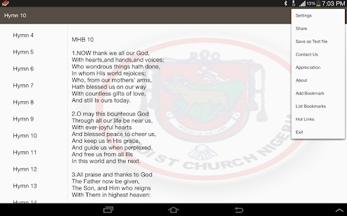Methodist Hymn Book offline.