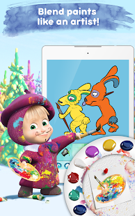 Masha and the Bear: Free Coloring Pages for Kids Screenshot