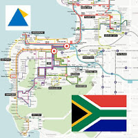 CAPE TOWN MYCITI BUS ROUTE MAP ケープタウン 开普敦