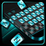 Cyan Metal Keyboard Theme