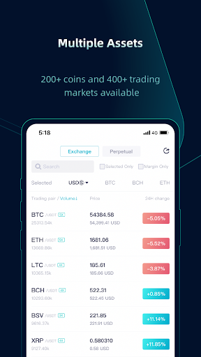 CoinEx - A Trustworthy Cryptocurrency Exchange android2mod screenshots 3