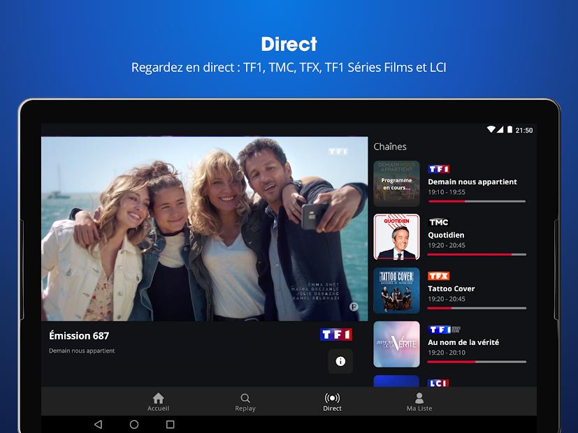 MYTF1 • TV en Direct et Replay Android App Screenshot