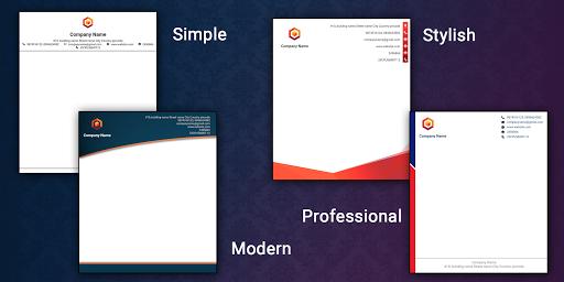 Letterhead Maker Business letter pad template Logo 1.7 Screenshots 10
