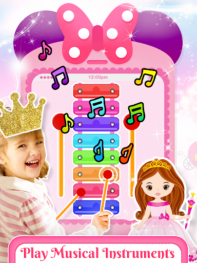 Pink Little Talking Princess Baby Phone Kids Game 9.0.1 screenshots 1