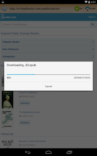 ePub Reader for Android 2.1.2 Screenshots 10