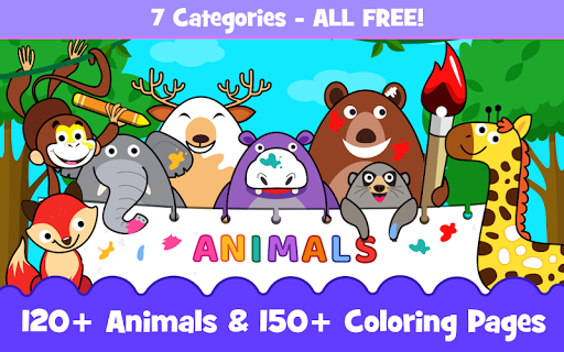 Animal Sounds for babies & Coloring book for kids 1.20 screenshots 1