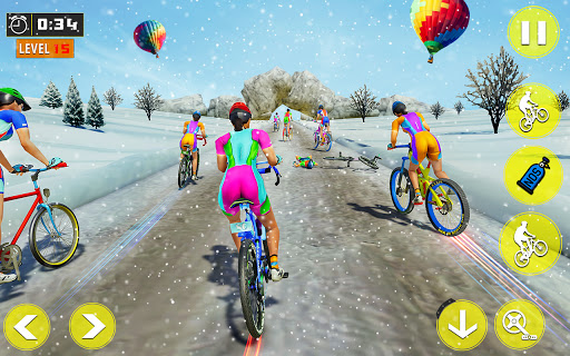 BMX Bicycle Rider - PvP Race: Cycle racing games  screenshots 1