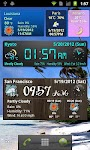 screenshot of World Weather Clock Widget