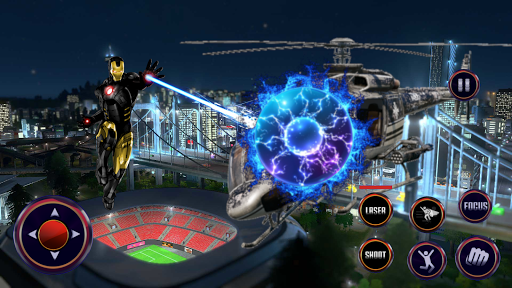 Robot Rope Hero - Firestorm Superhero Crime City android2mod screenshots 6
