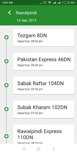 Pak Rail Live - Tracking app of Pakistan Railways  Screenshots 4