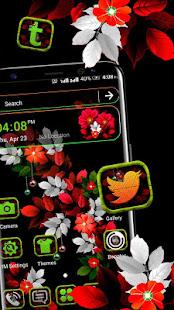 Floral Leaf Launcher Theme