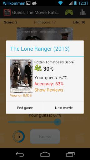 guess the movie rating screenshot 2