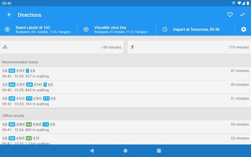 menetrend.app u2013 Public Transit in Hungary 3.3.0.9325 Screenshots 7