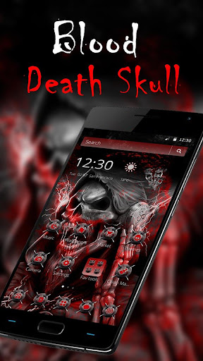 blood death skull theme screenshot 1