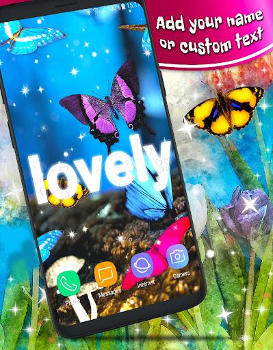 Butterfly Parallax 3d �� Live Wallpaper HD Themes  screenshots 1