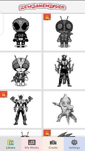 New Kamen Rider - Pixel Art android2mod screenshots 3
