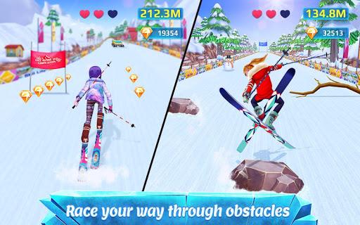 ski girl superstar - winter sports & fashion game screenshot 1
