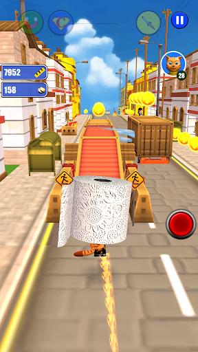 Toilet Paper Cat Run apktram screenshots 17