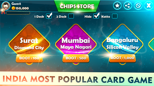 Mindi - Offline Indian Card Game 3.7 screenshots 2