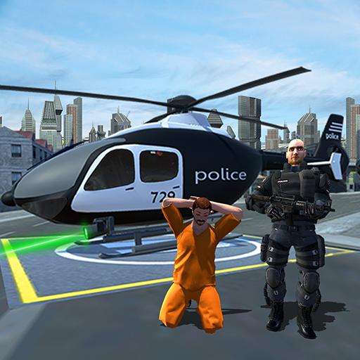 Transportul prizonierilor Heli de poliție: simulat