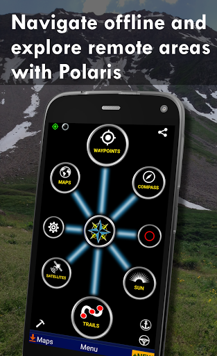Polaris GPS Navigation: Hiking, Marine, Offroad 9.17 Screenshots 1