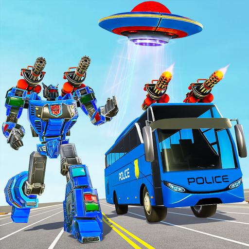 Bus Robot Car Transform War– Spaceship Robot game APK