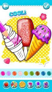 Glitter Ice Cream Coloring 5.4 Screenshots 8