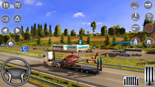 Euro Truck Driving Simulator 3D - Free Game apkpoly screenshots 2