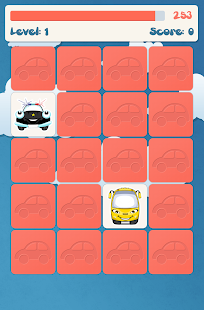 Cars memory game for kids