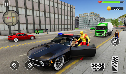 Super Rope Hero Spider Fight Miami City Gangster  screenshots 7