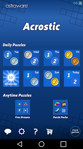 Astraware Acrostic 2.50.002 screenshots 2