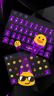 Purple Metal Keyboard