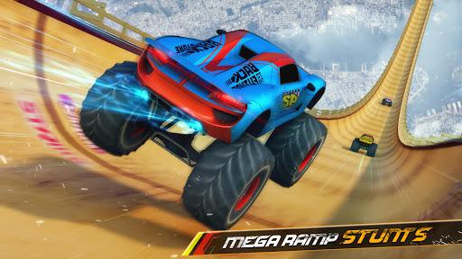 Télécharger Monster Truck Mega Ramp - Extreme Stunts GT Racing apk mod screenshots 1
