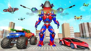 Dragon Robot Air Jet Transform Robot Shooting Game
