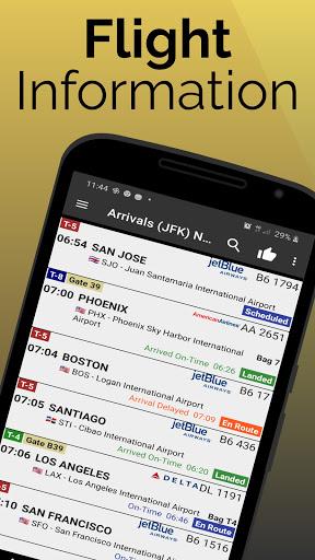 east midlands airport: flight information screenshot 1