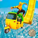 Superhero Tuk Tuk Auto Rickshaw Stunt Driving Game