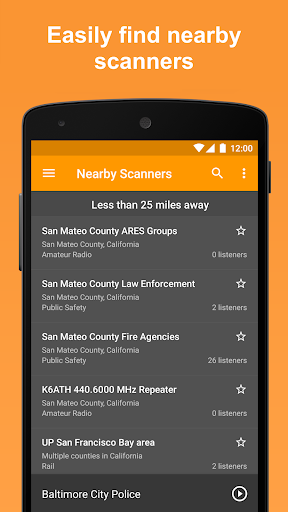 Scanner Radio - Fire and Police Scanner modavailable screenshots 2