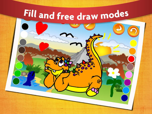 Kids Dinosaur Coloring Pages - Free Dino Game filehippodl screenshot 1