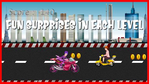 highway motor racer : girl game screenshot 3