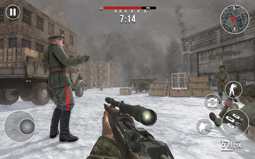 World War 2 Winter Heroes - Free Shooting Games 1.2.2 screenshots 4