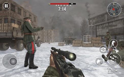World War 2 Winter Heroes Mod Apk (Dumb Enemy/God Mode) 4