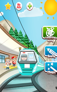 Train game: coloring book for kids 5