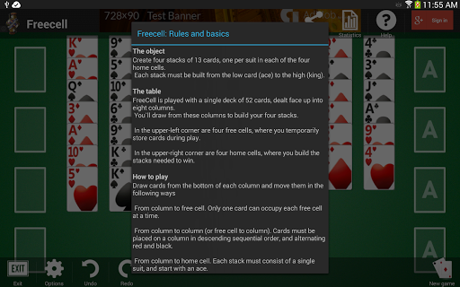 Freecell apkpoly screenshots 16