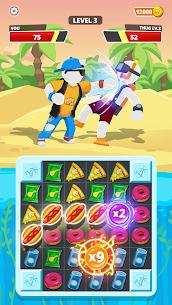 Match Hit Mod Apk- Puzzle Fighter (God Mode) 4