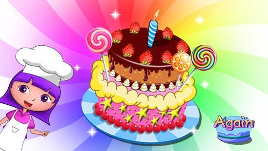 Anna's birthday cake bakery shop - cake maker game Screenshot