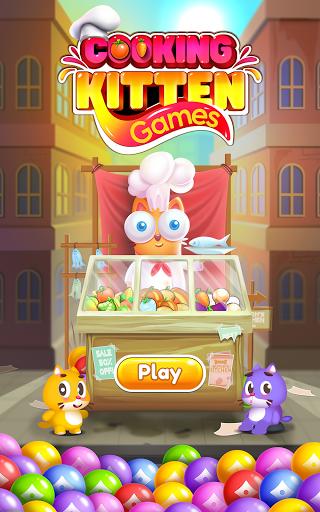 Kitten Games - Bubble Shooter Cooking Game apkmr screenshots 19